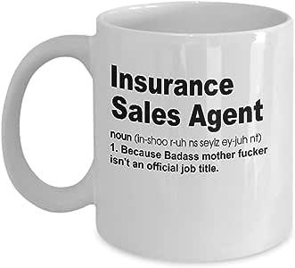 Amazon.com: Insurance Sales Agent Definition Mug Gift ...