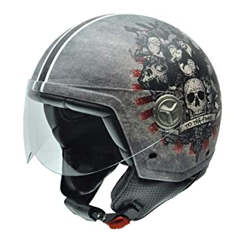NZI 050275G778 Zeta Finish by Popeye Casco de Moto, Talla 58 (L)