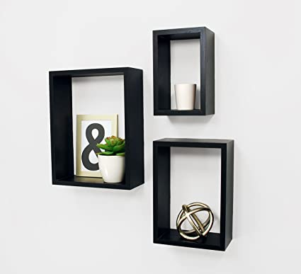 Outstanding Kieragrace Fn00420 8 Kiera Grace Nesting Contemporary Floating Wall Shelves 5 By 8 Inch 7 By 10 Inch 9 By 12 Inch Black Set Of 3 Download Free Architecture Designs Osuribritishbridgeorg