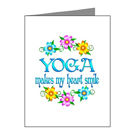 Amazon.com : CafePress - Yoga Smiles Note Cards (Pk Of 20 ...