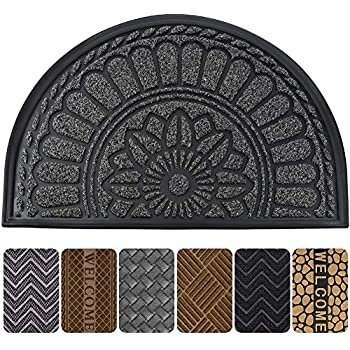 Amazon Com Mibao Half Round Door Mat Non Slip Welcome