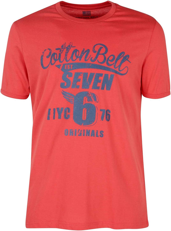 Cotton Belt T Shirt Uomo in Cotone con Scritta: Amazon.it