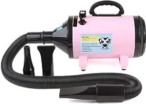MVPower Hondenfohn hondenborstel Waterblazer Dierenborstel Waterblazermet Draaiknop om Overtollig Water en Stof Snel Uit de Vacht te Blazen Verstelbare Vermogen standen en Verstelbare Temperatuur 2800W (roze)