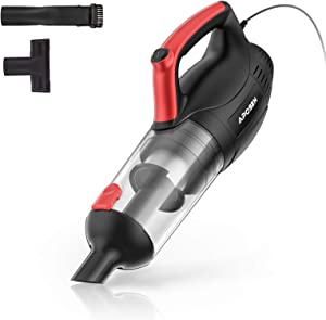 APOSEN Handheld Vacuum 16KPA Corded Hand Vacuum Powerful Suction Handy Vac Multi-attachments for Home Car Cleaning Lightweight