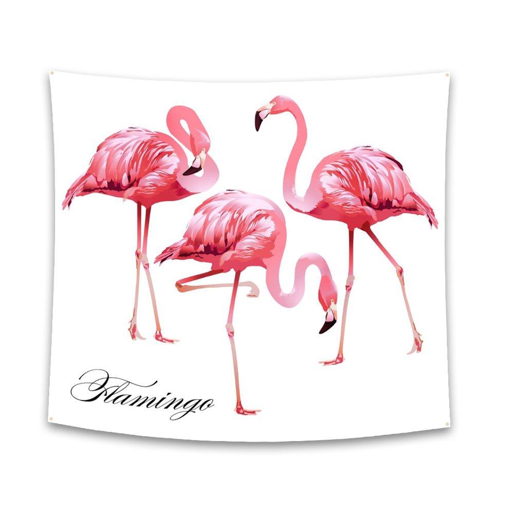 Amazon.com: Roslynwood Home Decor Tapestries Wall Art, Pink Flamingo ...