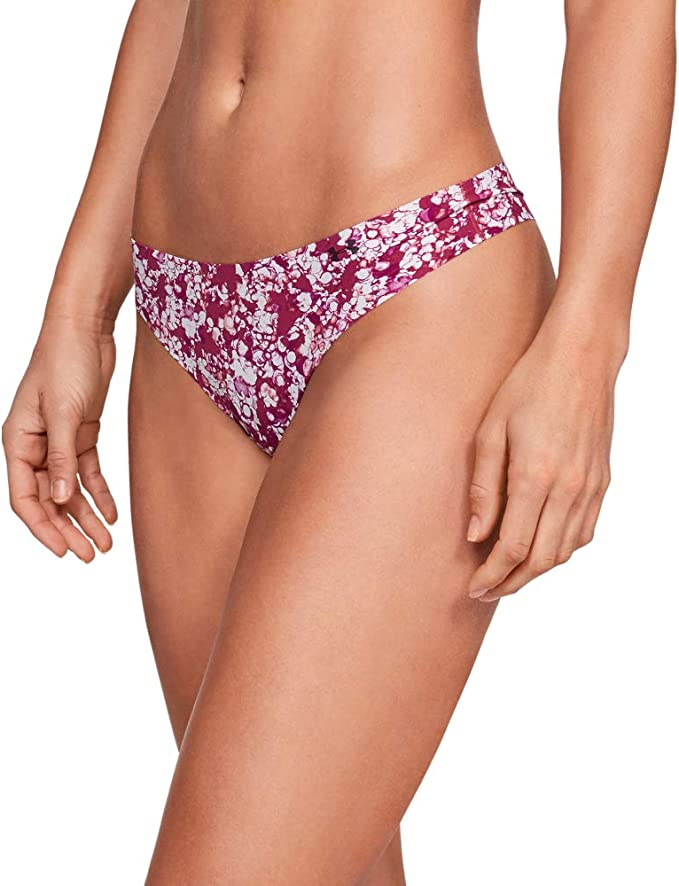 Under Armour Womens UA Pure Stretch Thong Underwear Printed 3 ...