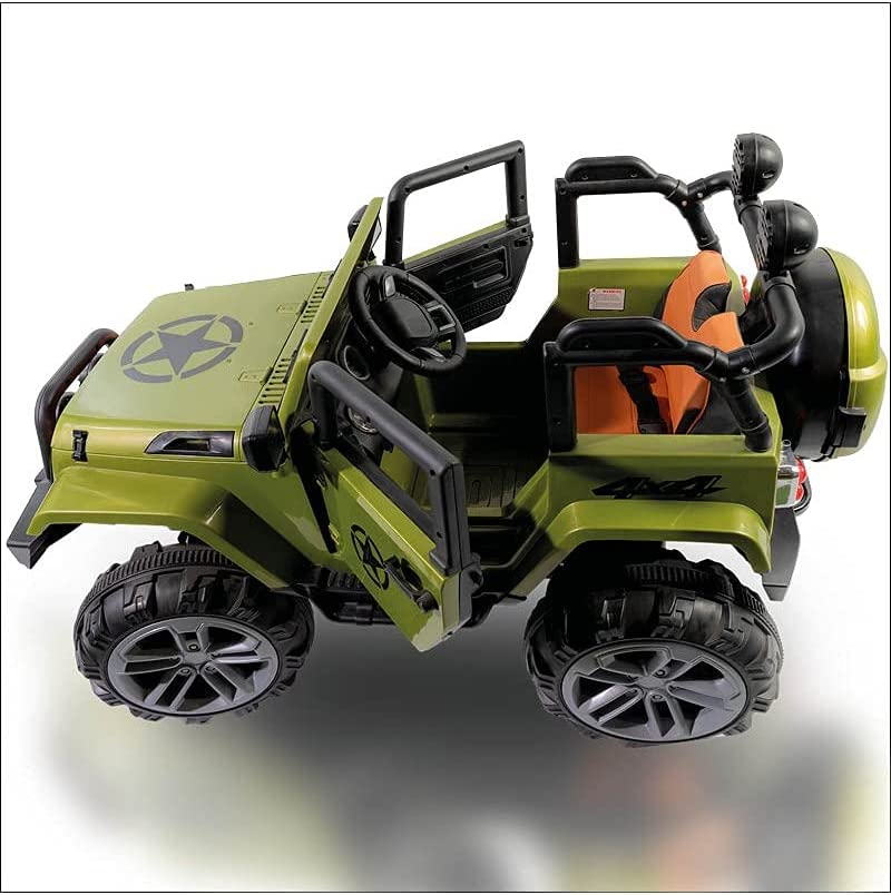Coche Infantil Jeep 4 Motores BIGFOT4X4 12V, Mando RC, Verde, 2 PLAZAS - AT-BIGFOTGREEN