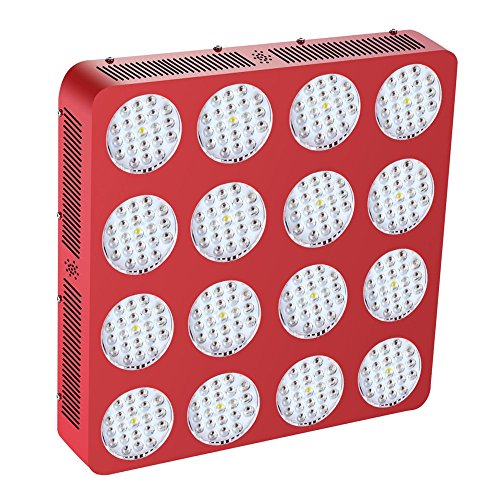 Goldenring 16 3360w Double Chips LED Grow Light Full Spectrum 380-730nm Armed with Integrated Power Lens Plant Flower Growing Lamp(3360w, double chips 10w leds) - Armed Lamp
