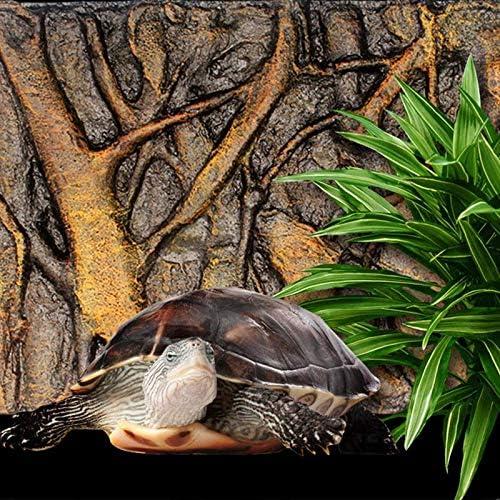 Lanbowo Aquarium Rock Background E 3D Foam Rock Stone Aquarium Background Board Decor Foam Board for Reptile Fish Tank 60x45cm