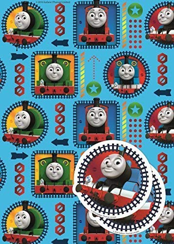 Thomas The Tank Engine 2 Sheets Of Gift Wrap And 2 Gift Tags
