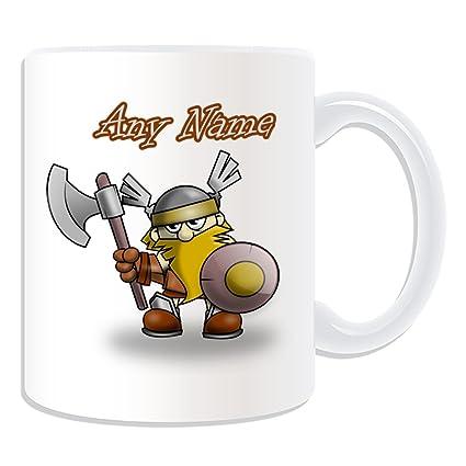 De regalo con mensaje personalizado - Guerrero Vikingo taza (molde para hacer una diseño de