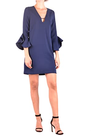 e9ac70120b Pinko EZBC056221 Women's Blue Polyester Dress: Amazon.co.uk: Clothing