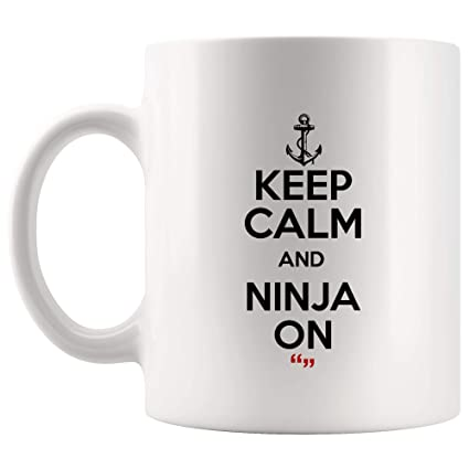 Amazon.com: Keep Calm Ninja On Secret Activity Inspirational ...