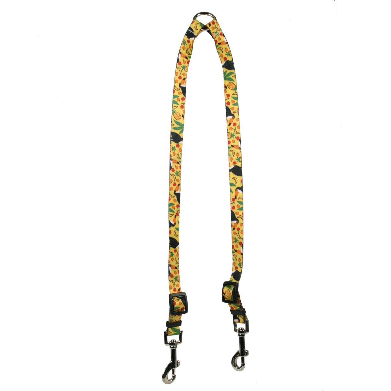 Large Yellow Dog Design Fruity Tucan Coupler Dog Leash 1  Wide And 12 To 20  Long, Large
