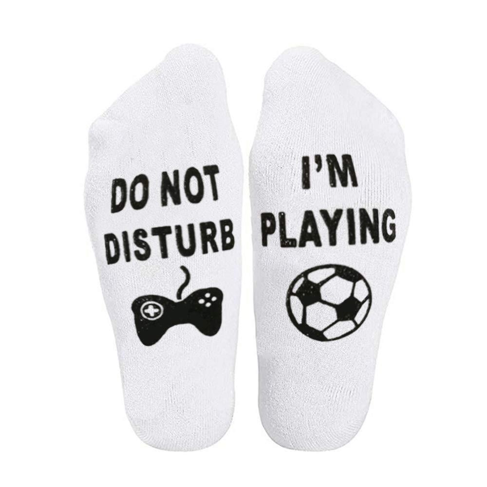 Do Not Disturb Im Gaming//Playing Funny Cotton Socks Gamer Socks Funny Ankle Socks Great Gift For Gamer Lover