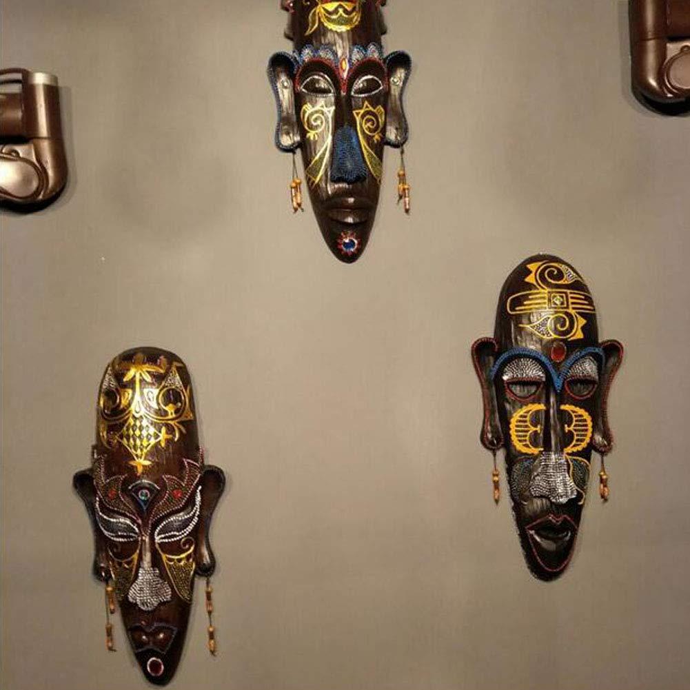 A#01 Chinashow Le Mur de r/ésine sculpte Le Petit Ornement Africain de Mur de d/écor de tenture de Masque Africain pour la Maison//Barre//Magasin//pub