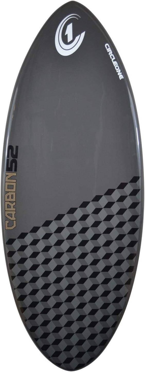 inkl Tasche Farbe: Colbalt Grey Wachs Circle One Skimboard aus Kohlefaser Tailpad und Bogenstange