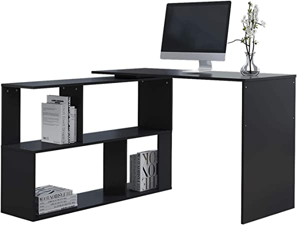 Computer Desk PC Laptop Table Workstation Study Home Office w//Shelf Black//White