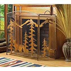 Gifts & Decor Rustic Forest Folding Fireplace Screen by Furniture Creations