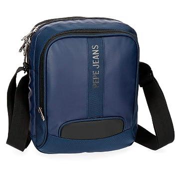 Pepe Jeans Bromley Bolso Bandolera, 27 cm, 4.75 litros, Azul: Amazon.es: Equipaje