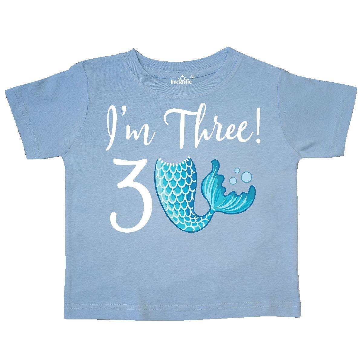 3rd Birthday Mermaid Party Toddler T-Shirt 2c574 inktastic