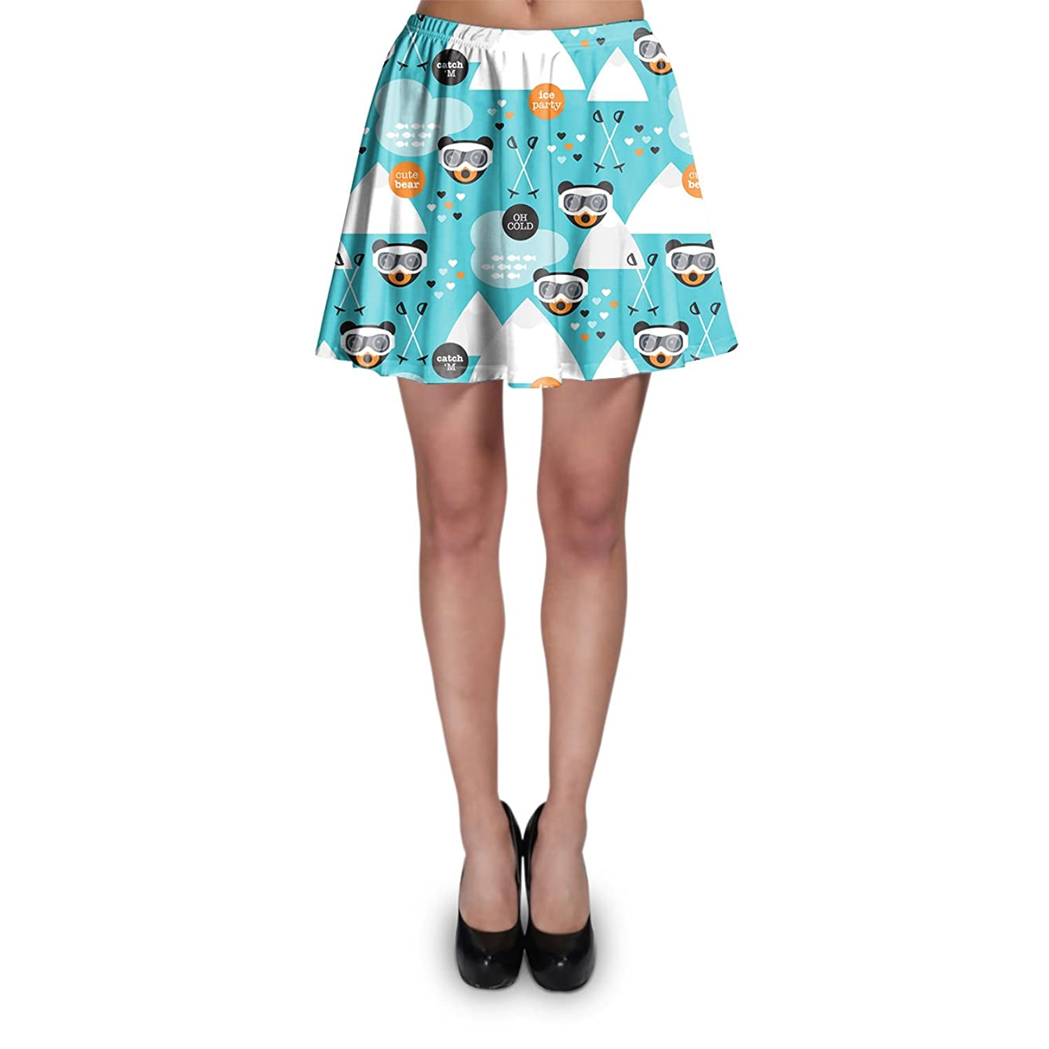 Ski Fun Bears Skater Skirt Rock XS-3XL