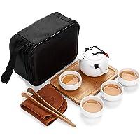 Porcelain Ceramic Travel Portable Tea Sets with Bag