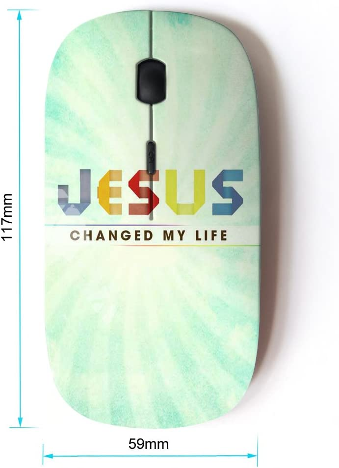 Optical 2.4G Wireless Computer Mouse KOOLmouse BIBLE VERSE JESUS SAVED MY LIFE