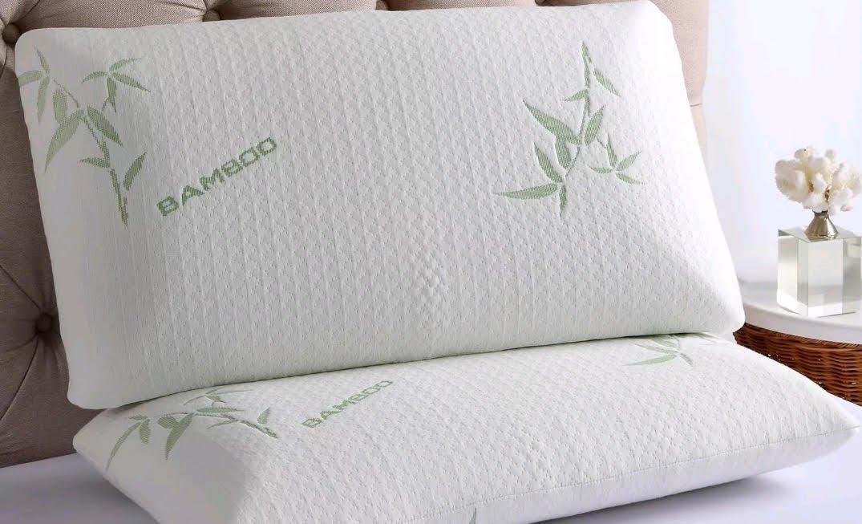 Iyan Linens Ltd Espuma de Poliuretano bambú Almohada Cabeza Cuello Apoyo Almohada ortopédica antialérgico & Antibacteriano, Espuma con Efecto Memoria, ...