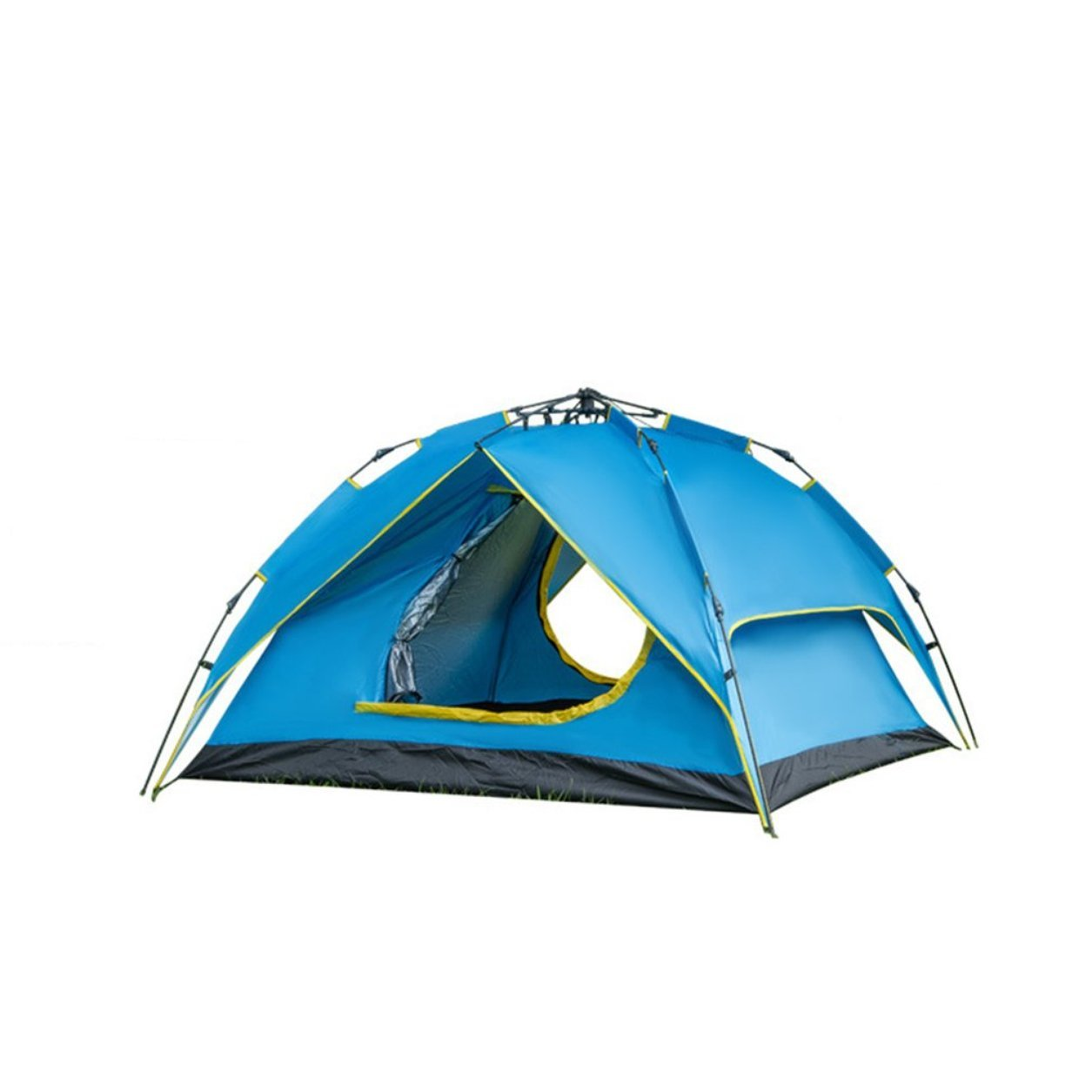 Dailyinshop Tragbare 4 Person Double Layer Instant Pop up Camping Zelt Outdoor Shelter (Farbe: Blau)