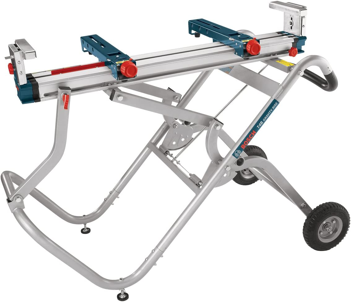 Bosch Portable Gravity-Rise Wheeled Miter Saw Stand T4B
