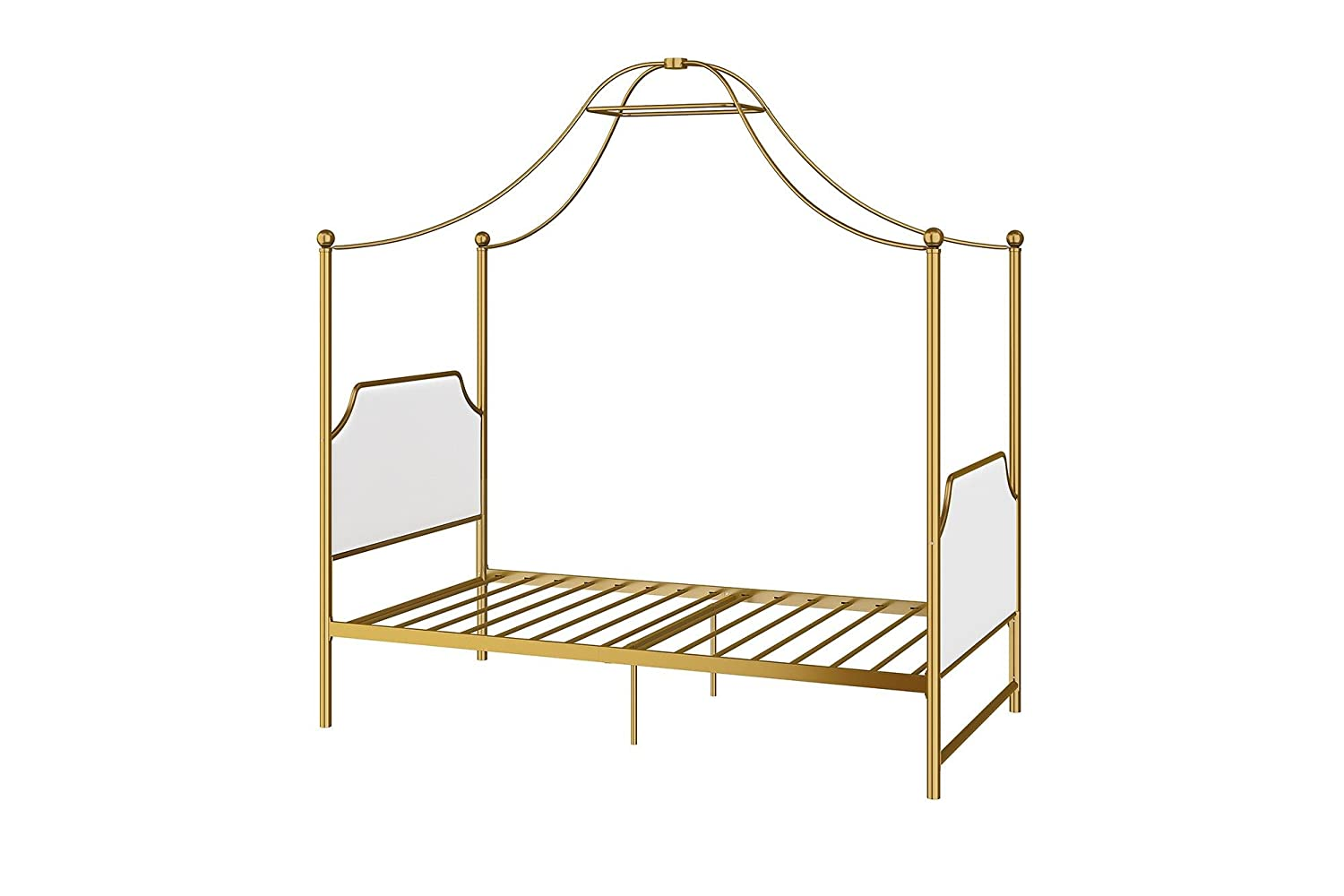 Little Seeds Monarch Hill Clementine Canopy Bed, Gold, Twin by Little Seeds