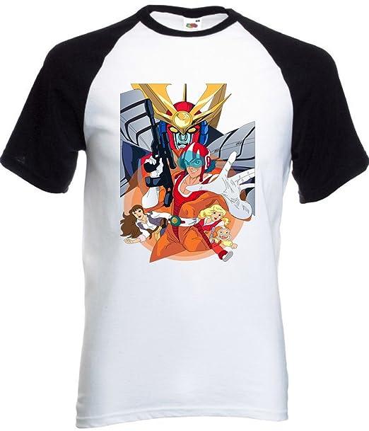 Abrastore t shirt daitarn 3 maglietta cartoons 80 maglia cartoni