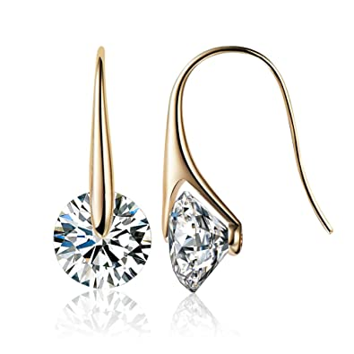 855768db1 Mestige Eclipse Earrings with Swarovski Crystals (Gold) Gifts Women Girls,  Classic Drop Hook