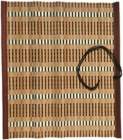 [SENYON] 書道 竹製 筆巻き 筆 毛筆 持ち運び用 (33cm × 29cm)