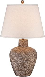 Auburn hammered bronze table lamp amazon bentley brown leaf hammered pot table lamp aloadofball Images