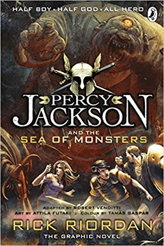 Image result for book cover the sea of monsters graphic novel