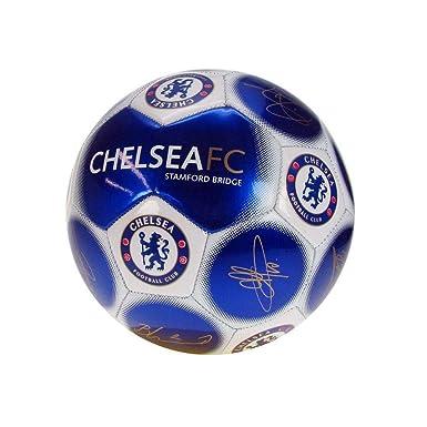 Chelsea FC - Balón mini con firmas (Talla 1) (Azul/Blanco): Amazon ...