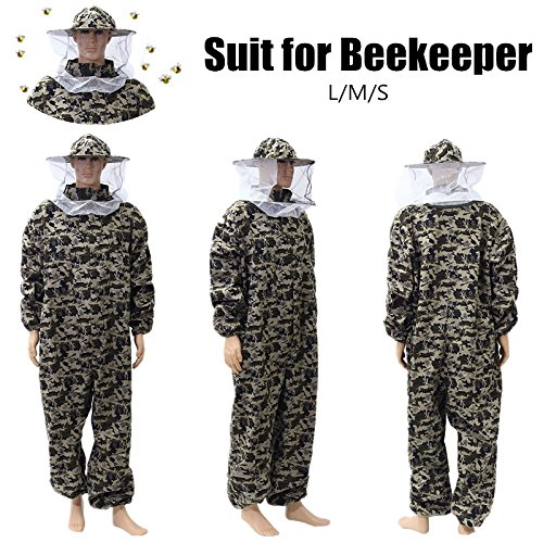 INNI Camouflage Beekeeping Suit Protective Pants Veil Bee Protecting Dress