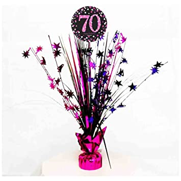 70th Birthday Spray Centrepiece Table Decoration