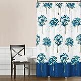 Saturday Knight Blue Medley Fabric Shower Curtain