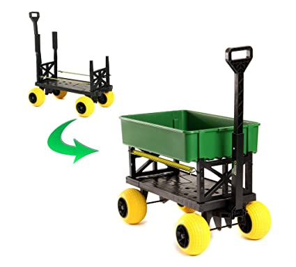 Gardening Cart Rolling Garden Seat Utility Flatbed Yard Lawn Carts And  Wagons Can Dump Soil Haul