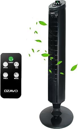 OZAVO Ventilador de Torre Oscilante con Control Remoto