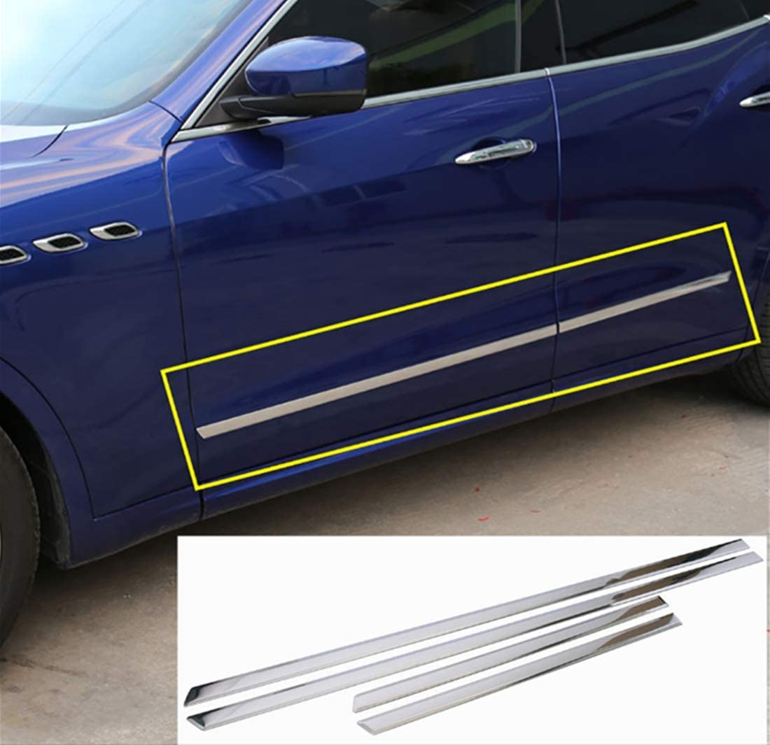 For Maserati Levante 2016 Car-Styling Stainless Steel Door Side Decoration Strips Trim Sticker Accessories Top Quality 4pcs//set