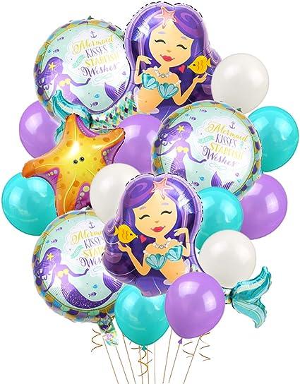 Amazon.com: Kreatwow - Globos de sirena para fiesta de ...