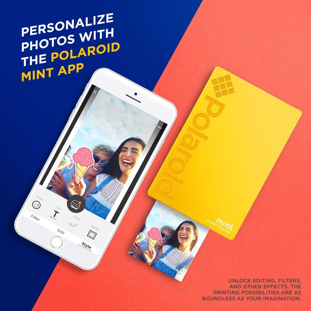 Polaroid Mint: Impresora instantánea (Amarillo) PAQ con Todo ...