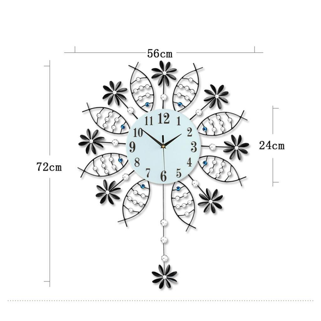 Amazon.com: TOYM-Creative Modern Minimalist Living Room Wall Clock Watch Clock Swing Mute Art Wall Clock Quartz European Big Bedroom Wall Clock: Home & ...