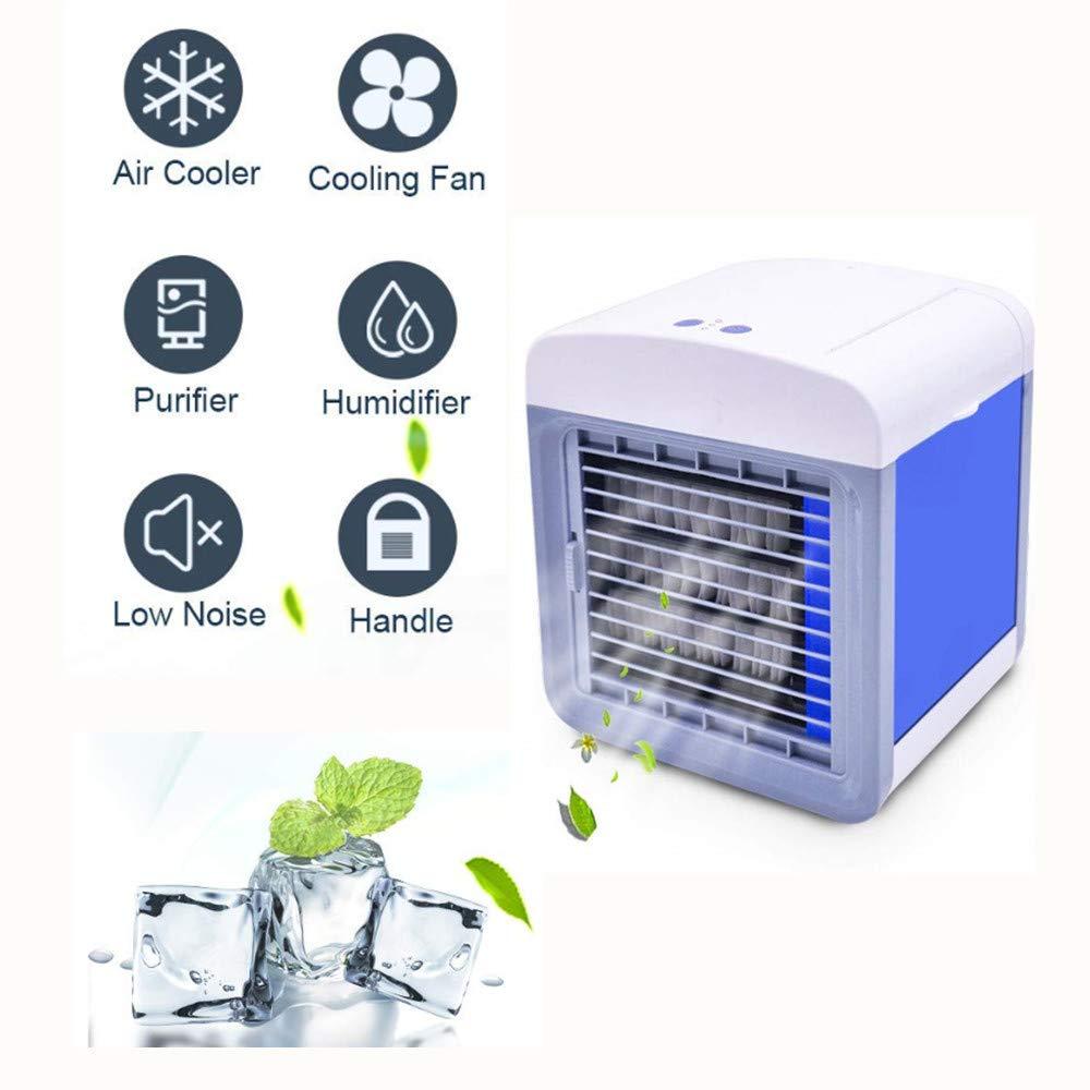 Refroidisseur dair Portable Climatiseur Humidificateur Purificateur 3 en 1 Climatiseur Portable Blanc Rafraichisseur dair Et Ventilateur Mini Climatiseur Mobile