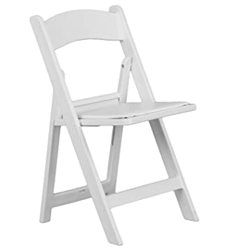 Beau Hercules Series Capacity Resin Folding Chair [Set Of 4] Color: White