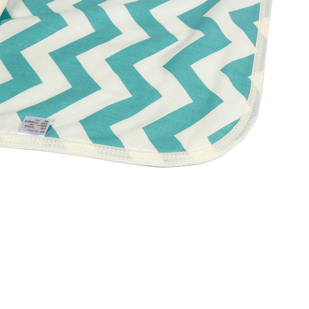 60 * 75cm wiederverwendbare Windel Matte waschbar wasserdicht Letech/® Wickelunterlage f/ür Babys und Kleinkinder Welle, L